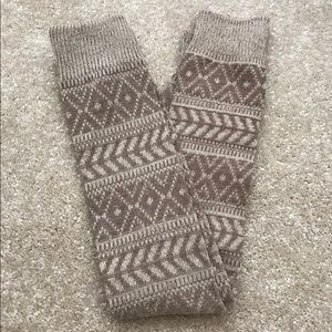 Tan Brown Beige Taupe Thick Leg Warmers